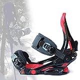 SCXLF Fijaciones de Snowboard para Hombres y Mujeres, Soporte para Snowboard con Talón Aleación Aluminio y Almohadilla de EVA, Equipo de Esquí Invierno,M(37~41)