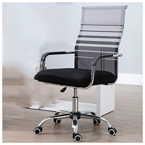 SPAQG werkstoel, verstelbare draaibare rol Ergonomische hoge rug kussen Lumbar ondersteuning comfortabele stoelen, grijs