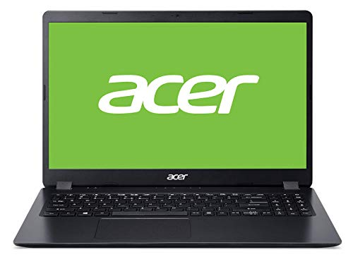 "Acer A315-54K - Ordenador portátil de 15.6"" HD (Intel Core i3-7020U, 8GB de RAM, 256GB SSD, Intel HD Graphics 620, Windows 10 Home) Negro - Teclado QWERTY Español"