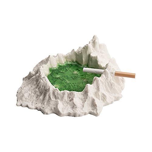 GYZLZZB Modern Imitation coundery cenicero con Canal de Humo, cenicero de cerámica a Prueba de Viento para Exteriores o al Aire Libre, cenicero de Fumadores, Fumadores de Escritorio, Adecuado para la