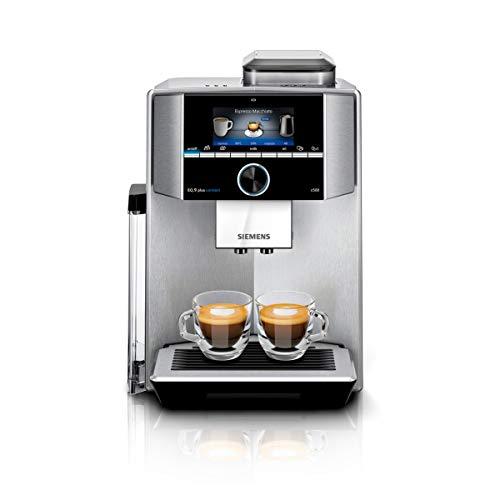 Siemens EQ.9 plus connect S500 TI9555X1DE, pulizia automatica, personalizzazione, extra silenziosa, 1.500 Watt, acciaio inox
