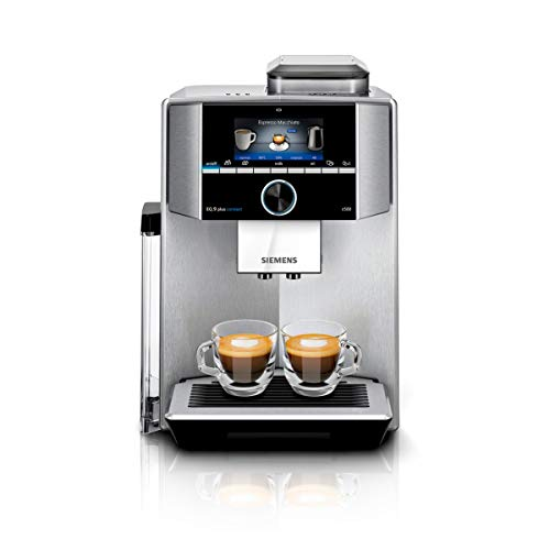 Siemens EQ.9 plus connect s500 Independiente - Cafetera (Independiente, Cafetera de filtro, 2,3 L, Molinillo integrado, 1500 W, Negro, Acero inoxidable)