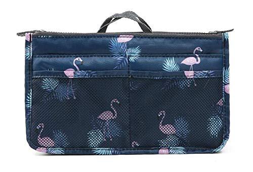 NOVAGO Organizer Borsa Donna 13 Tasche Capiente Organizzatore Viaggio Borse Espandibile Doppio Manico Porta Accessori Cosmetici, Telefono, Trucco (Fenicottero #1, x 1)