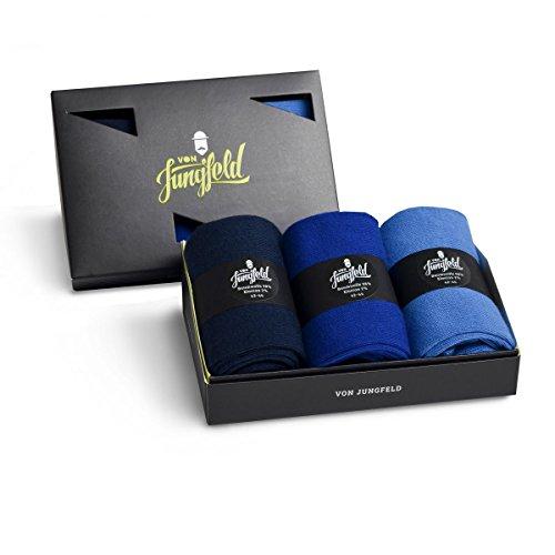 von Jungfeld 3er-Set Herrensocken in blau Size 45-47