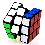 keemdox 3 * 3 * 3 Magic Cube Puzzle Toy para Niños Kids Speed Cube 3X3X3 En 3 Espejo Cube & Holder Q Speed Cubs M Llavero Llavero