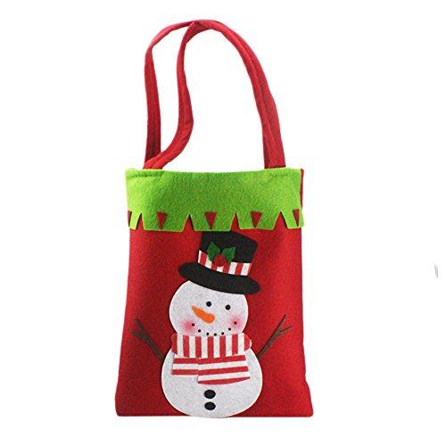 Demarkt–Bolsas de Regalo Navidad, Bolsas de Saco de Navidad decoración Dulces Funda, Fibra de poliéster, Muñeco de Nieve, 42 * 21CM