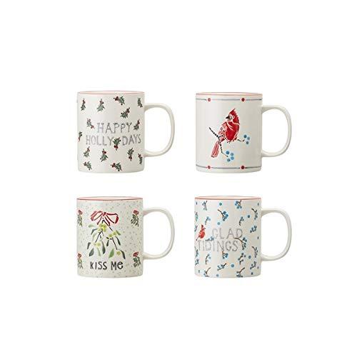 Bloomingville - Becher/Kaffeebecher - Steinzeug - Multi-Color - Ø 9cm x H: 10cm - 4er-Set