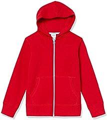 Amazon Essentials Sudadera con Capucha y Cremallera Fleece Athletic-Hoodies, Rojo, US XXL (EU 158 CM)