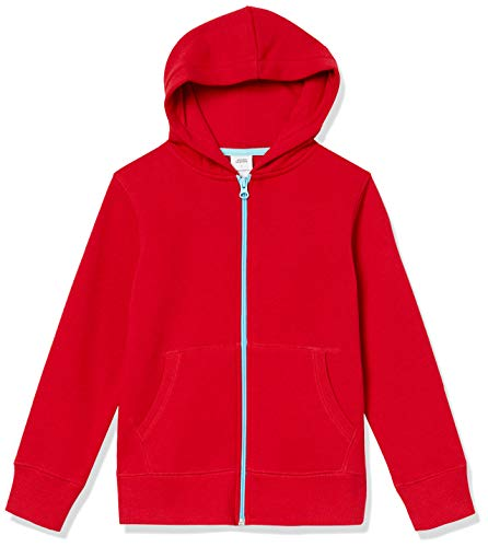 Amazon Essentials Sudadera con Capucha y Cremallera Fleece Athletic-Hoodies, Rojo, US XXL (EU 158 CM)