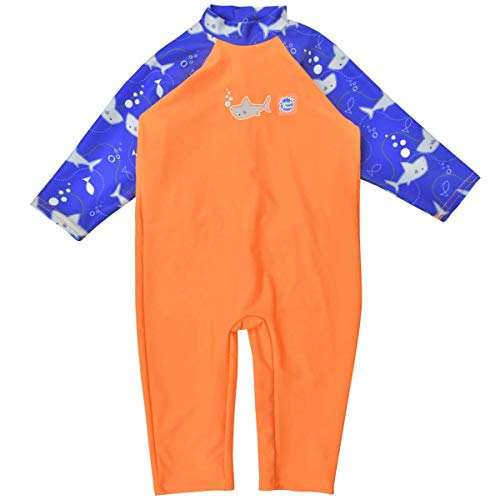 Splash About Kinder Einteiliger Uv Schutzanzug , Shark Orange, 6-12 Monate