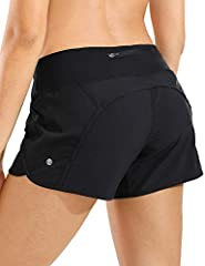 The fabric is a soft and ultralight like feather,quick-drying, soft to touch and highly durable. 4 inches workout shorts with interior drawcord inside knit waistband for a perfect fit. Athletic shorts with inner lining helps prevent rubbing and chafi...
