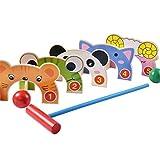 Juego de palos de golf para niños pequeños Infantil Golf Gateball deportes al aire libre cubierta de parque de madera educativo de los juguetes para juguetes de educación temprana para niños en