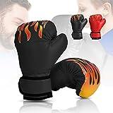 Wuudi Guantes de Boxeo para niños, 6OZ Boxing Gloves de 3 a 12 Años para Combate Training, Saco Boxeo, Muay Thai Negro