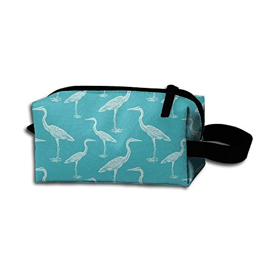Travel Makeup Blue Heron Beautiful Waterproof Cosmetic Bag Quick Makeup Bag Pencil Case