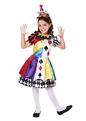 Bristol Novelty CF099 - Princesa de payaso (7 – 9 años), diseño de princesa, multicolor