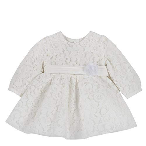 Chicco - Vestido + cinturón crema 18 meses