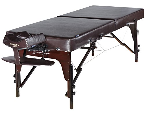 """Master Massage 31"""" Extra Large Carlyle LX Portable Massage Table Package Brown with Memory Foam Reiki Panel, Chocolate, 31""""x72.5""""x24""""-34"""""""