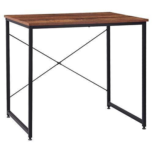 eSituro Muebles de Oficina Mesa de PC Escritorios de Ordenador Trabajo de Madera y Acero, con Estante 80 x 60 x 70 cm SCD0158
