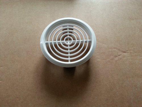 Lüftungsgitter Rund 70 mm Lüftung Gitter Abluft Zuluft Belüftung Kunststoff Neu