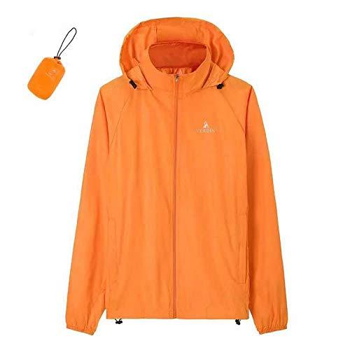 Générique Combinaison de Protection Solaire Ultra Fine Respirante pour Le Camping, Orange, Taille L