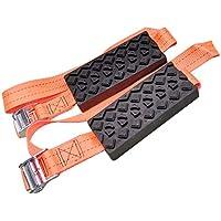 Blanchel 2pcs / Set Cadena de Rueda de neumático Cadena de Nieve de Emergencia Antideslizante Dispositivo de tracción de neumáticos para Hielo/Nieve/Barro/Arena Conducción Segura