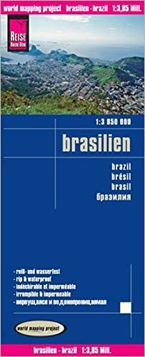 Reise Know-How Landkarte Brasilien (1:3.850.000): world mapping project: Kartenbild 2seitig, klassifiziertes Straßennetz, Ortsindex, GPS-tauglich ... exakte Höhenlinien