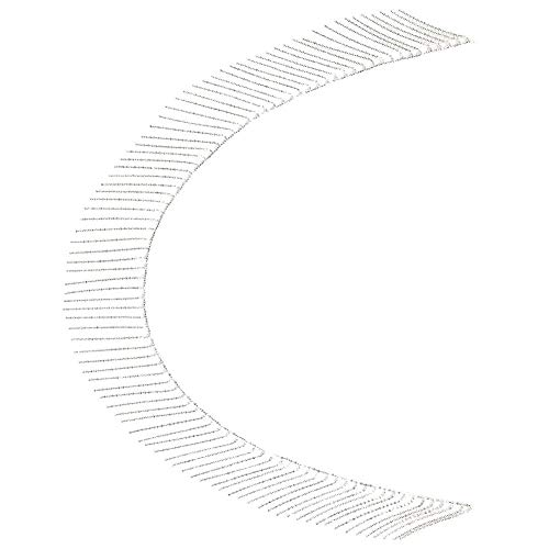 SHYEKYO Cadena de Cristal con Flecos, Cadena de Diamantes de imitación, Metal + Diamantes de imitación para apreciar la decoración(8cm Tassel Chain 1 Size)