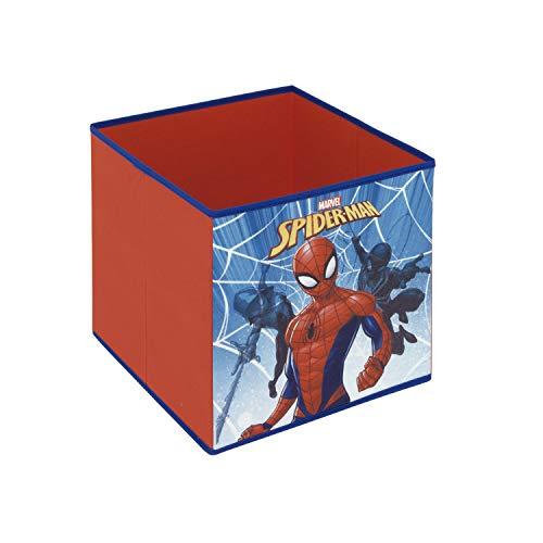 ARDITEX SM12122 Contenedor Organizador Textil con Forma de Cubo Plegable de 31x31x31cm de Marvel-Spiderman