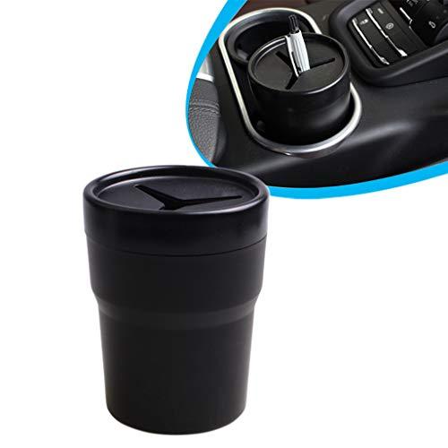 DONGMIAN - Caja de papelera de coche con soporte para vasos y monturas