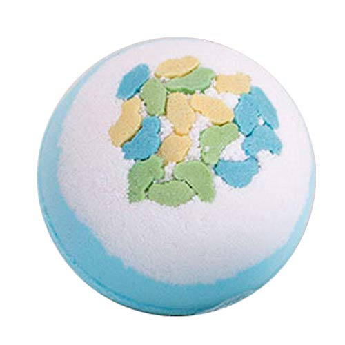 Bath Ball Bathtub Starry Sky Bath Bath Salt Bubble Bomb Explosion Bubble Bath Pop Children Bath-Blue And White Coconut