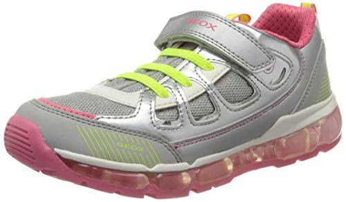 Geox Mädchen J ANDROID GIRL C, Silber (Silver/Coral C1212), 35 EU