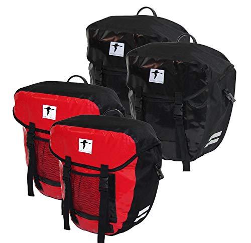 Red Loon Doppelpacktasche Packtaschen Gepäckträgertaschen LKW Plane wasserdicht, Farbe:rot/schwarz, Herstellernummer:CGSAT202-WP09ROT_2