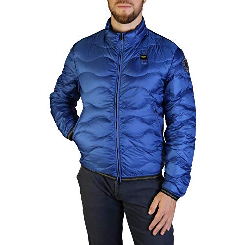 Blauer 19SLUC03049-004938 Piumino Light Ad Onde Hill Uomo Royal Blue (S, Royal Blue)