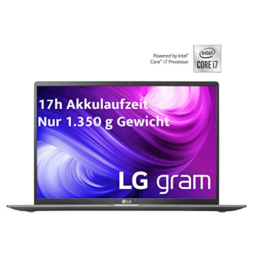 LG gram 17 Zoll Ultralight Notebook - 1,35 kg leichter Intel Core i7 Laptop (16GB DDR4 RAM, 1 TB SSD, 17 h Akkulaufzeit, IPS Display, Thunderbolt 3, Windows 10 Home) - Dunkelgrau