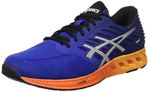 Asics Herren Fuzex Sneakers, Mehrfarbig Blue/Indigo Blue/Hot Orange, 46 EU