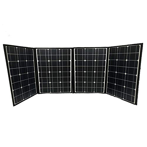 Prep Store 200W 12V Foldable Solar Panel Kit Monocrystalline Solar Panel Charger with USB Device Solar Charge Controller for Camper, Motorhome Rallies, Mobile Offices