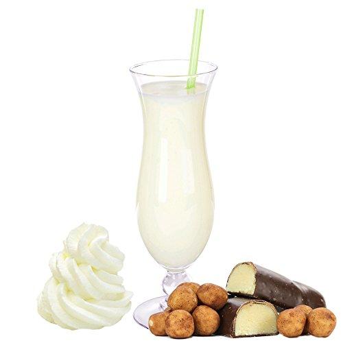 Marzipan Sahne Molkepulver Luxofit mit L-Carnitin Protein angereichert Wellnessdrink Aspartamfrei Molke (Marzipan Sahne, 333 g)