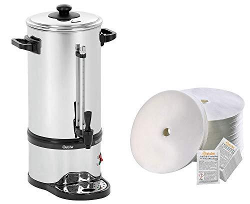 Bartscher Rundfilter Kaffeemaschine Pro II 60T + 250 Rundfilter + Entkalker