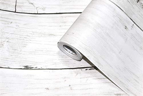 yanhuigang Abnehmbare Tapete Dekorative Wandbeläge 3D 0,45 * 6 m/Rolle Vintage Wood Selfadhesive Tapete for Wände Rolls Mural Kontakt Papier Wohnzimmer Küche Badezimmer Wohnkultur