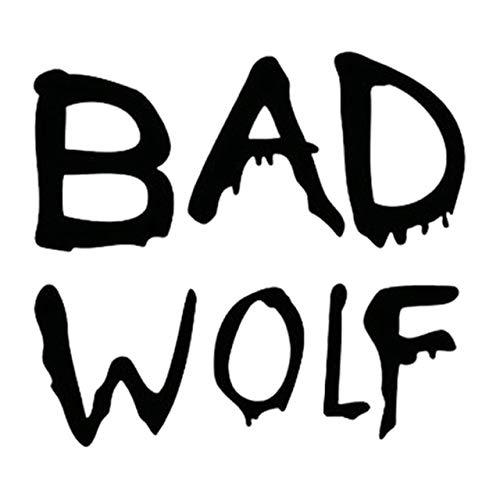 Vinilo Coche Exterior 13cm * 11.5cm Doctor Who Bad Wolf Fashion Styling Car-Vinilo Etiquetas engomadas de Negro/Plata Pegatinas Coche Familia (Color Name : Black)