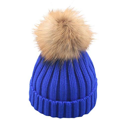 Hiver Tricoté Chapeaux Mignon Bonnet Bébé Bonnet Chapeau Casquette Bonnet Garçon Pompom pour Enfants Bébé Garçon Fille Noël 2 Taille 0-10ans