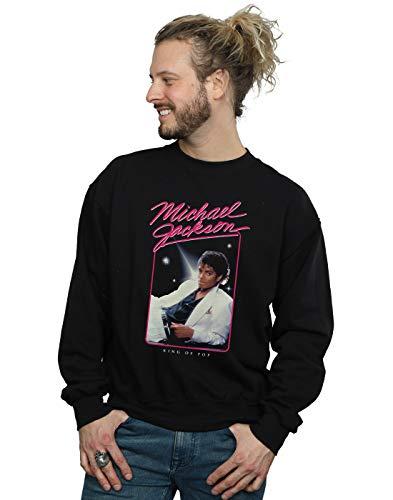 Michael Jackson Herren King of Pop Photo Sweatshirt Schwarz Medium