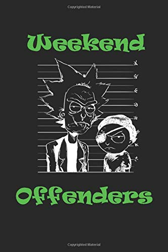 Weekend Offenders notebook textpad for students/Diary Journal 6x9 ruled 90 Pages: textbookfor school diary and professional to do list
