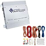 Pyramid PB717X 1000 Watt MOSFET 2-Channel Car Audio Power Amplifier System with Soundstorm AKS8 8 Gauge Complete Car Audio RCA Wiring Installation Kit