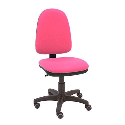 La Silla de Claudia - Silla giratoria de escritorio Torino rosa fucsia para oficinas y hogares ergonómica con ruedas de parquet
