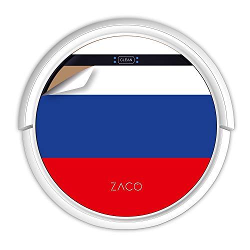 ZACO V5sPro Robot Aspirador y fregasuelos, aspirar y Fregar hasta 180m2, para Suelos Duros, Madera, parquet y alfombras, sin Bolsa, Mando a Distancia, 300ml, para pelos de Mascotas, Bandera Rusa