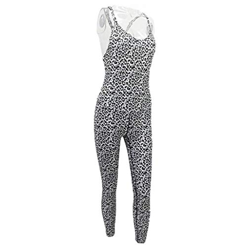 CS-YP Yoga Pak Voor Vrouwen, Suspenders Panter print Jumpsuit,Gebruikt In Running/Oefening