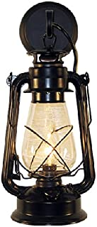 Rustic Lantern Wall Mounted Light - Large Black