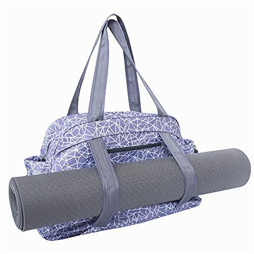 Moiyoudis Crossbody Yoga Mat Bag Yoga Mat Bolsa de transporte Yoga Mat Bolsa de yoga Multifuncional Yoga Mat Bolsa de almacenamiento Correa de hombro ajustable (gris)