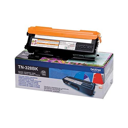 Brother Original Super-Jumbo-Tonerkassette TN-328BK schwarz (für Brother HL-4570CDW, HL-4570CDWT, DCP-9270CDN, MFC-9970CDW)